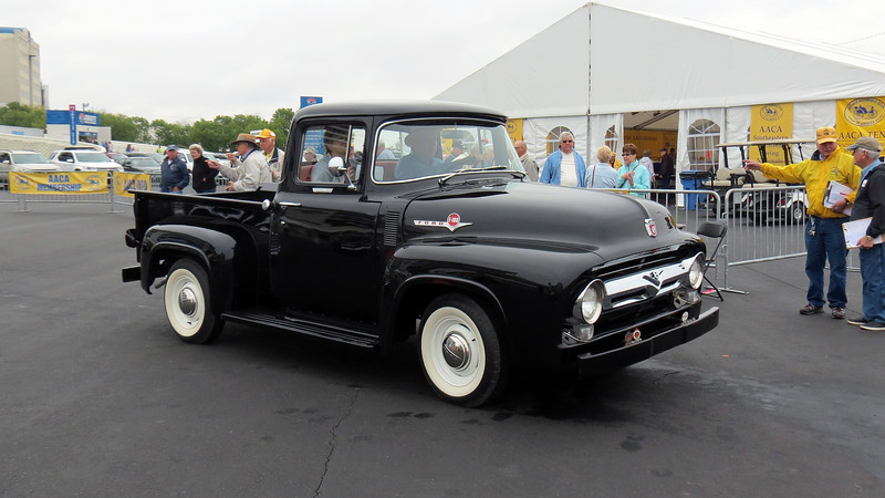 A stunning 1956 Ford F100 pickup.