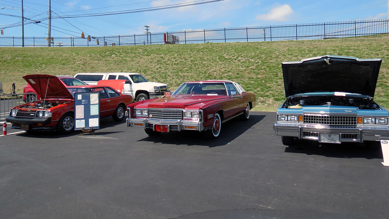 Class 27M cars (L - R):  1979 Toyota Celica GT, 1978 Cadillac Eldorado Biarritz, 1978 Cadillac Coupe de Ville.