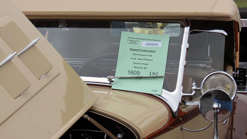 1934 Packard Super Eight Sport Phaeton.