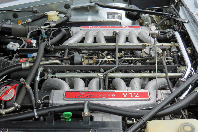Power comes from Jaguar's 5.3L V12 engine that was enlarged to 6.0L for this application.