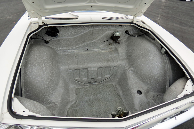 "The Corvair's rear-mounted engine meant the ""trunk"" was actually under the hood."