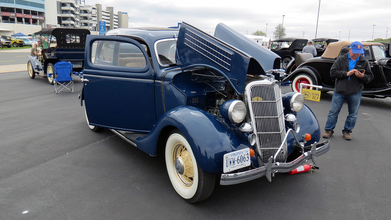 "Ford offered one car model line for 1935.  All Model 48 cars were powered by the same 221 CID ""Flathead"" V8 that now made 90 hp."
