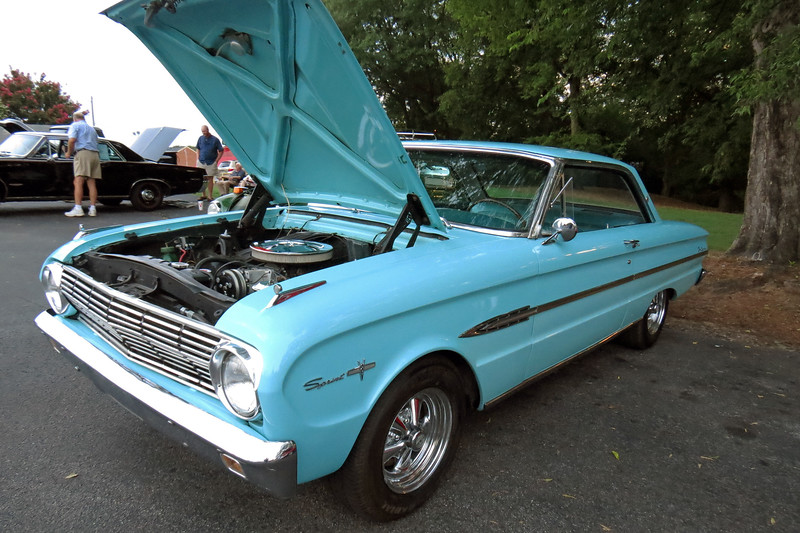 1963 Ford Falcon Sprint.  Technically, this is a 1963 1/2 model.  The Sprint was introduced mid-year and was the only way a V8 could be ordered in a Falcon.