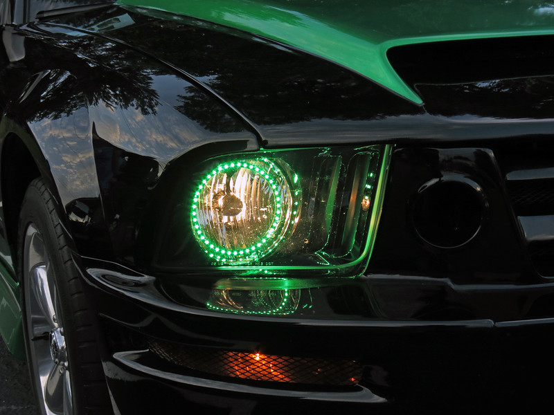 The halo lighting that matches the custom paint looks great.