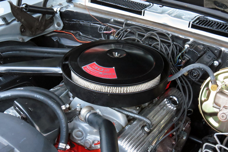 The 302 CID V8 found only in the Z28 was rated for 290 hp.  But tests from back in the day seem to indicate the engine's actual output was over 400 hp.