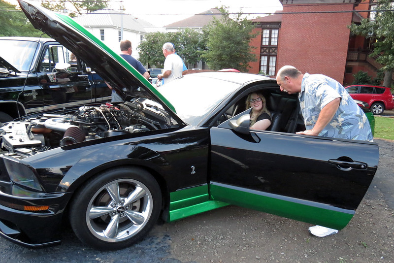 The green accent paint scheme was a custom job.