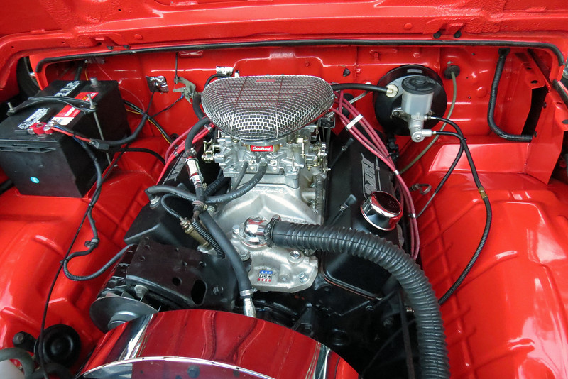 At some point in this car's history, the car's original 1.3L inline 4-cylinder engine was replaced with a small-block Chevrolet V8.