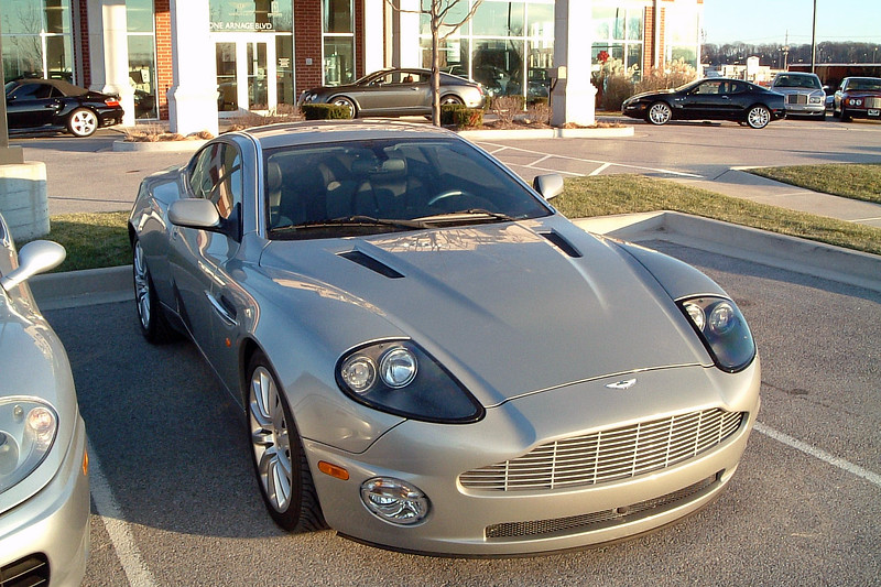 Next to the 360 was an Aston Martin coupe.