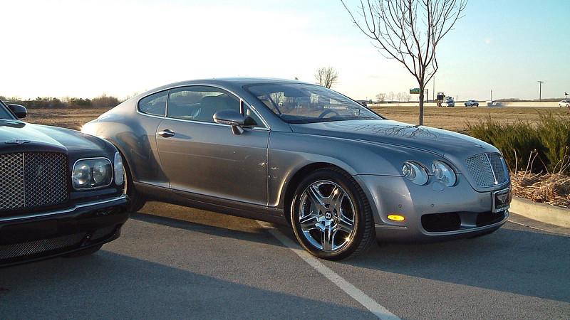 Bentley Continental GT coupe.