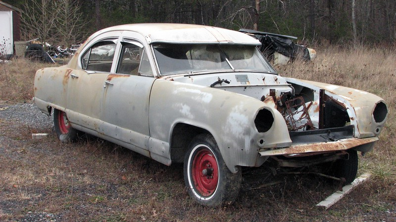 This car looked like another restoration project.