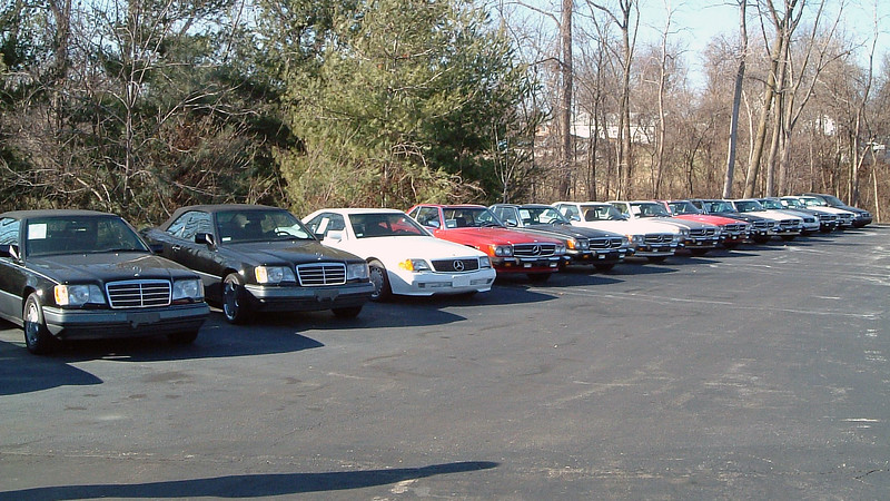 Fans of the Mercedes-Benz SL-Class convertible had a variety of years and colors from which to choose.