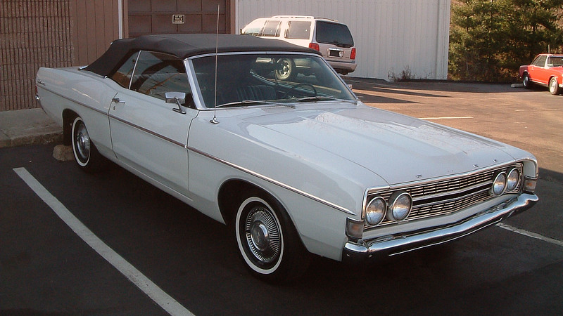 1968 Ford Fairlane 500 convertible.<br /> <br /> I couldn't find mileage or pricing information on this car.  All I know is that it's quite rare, being one of 3,761 made that year.