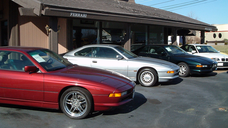 Along with the Porsches, 'Benzes, and Jags, buyers looking for an 8-Series BMW had several examples from which to choose.  I've always loved the 8-Series.