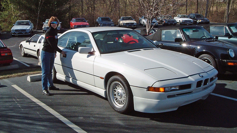 BMW 8-Series Coupe.<br /> <br /> I don't have any of the details of this car recorded.  But the BMW 8-Series has always been one of my favorites.  Schmitt had several nice examples from which to choose on this day.