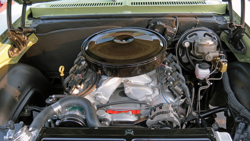 A modern LS derived V8 now resides under the hood.