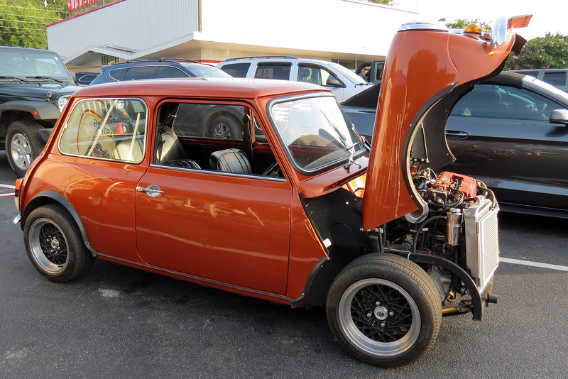 Mini Tec from about an hour up the road in Royston, Georgia is a company that specializes in Honda VTEC engine swaps for the original Mini.