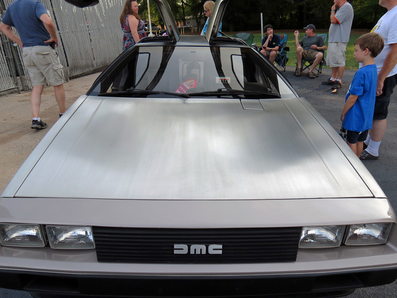 "John DeLorean produced his DMC-12 gullwing in 1981 and 1982.  The 130 hp produced by the 2.9L ""PRV"" V6 was pretty typical for the ""Dark Ages"" of that time.  The car's appeal was more visual in nature.  The stainless steel body and gullwing doors always got people's attention."