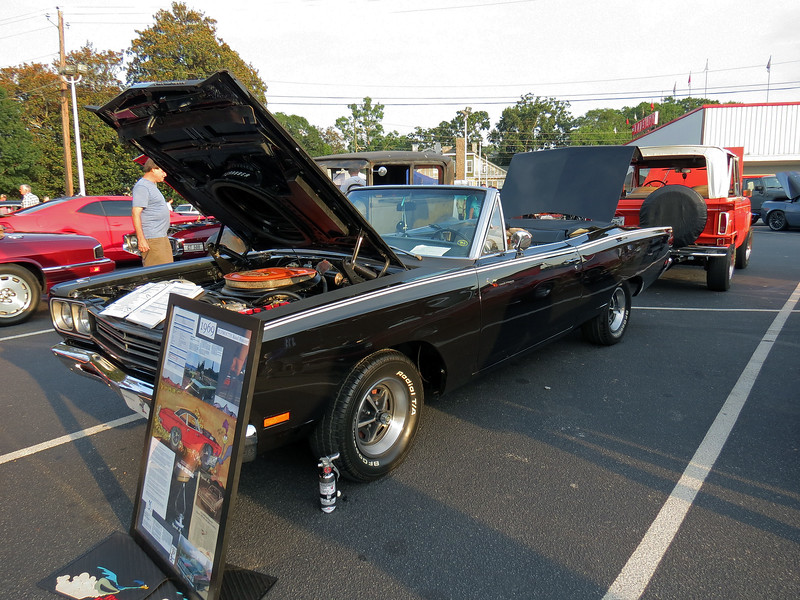A rare 1969 Plymouth Road Runner convertible, one of 1,111 383/automatic cars produced that year.