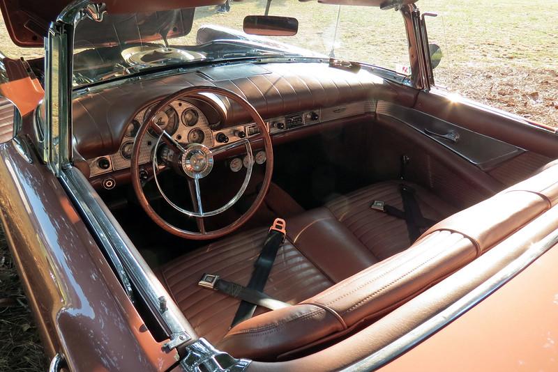 The interior is the matching Thunderbird Bronze.