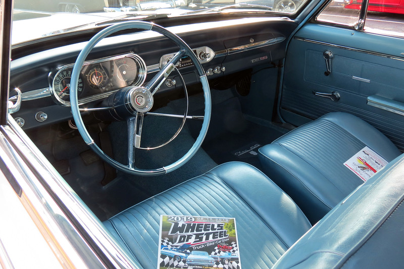 The carpet and door panels have been replaced.  But the upholstery is original.