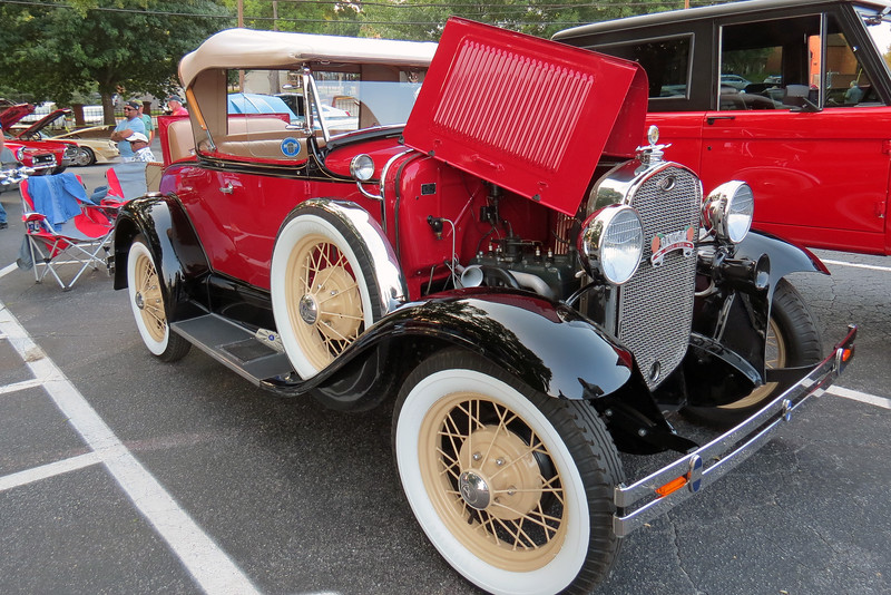 A flawlessly restored Ford Model A.