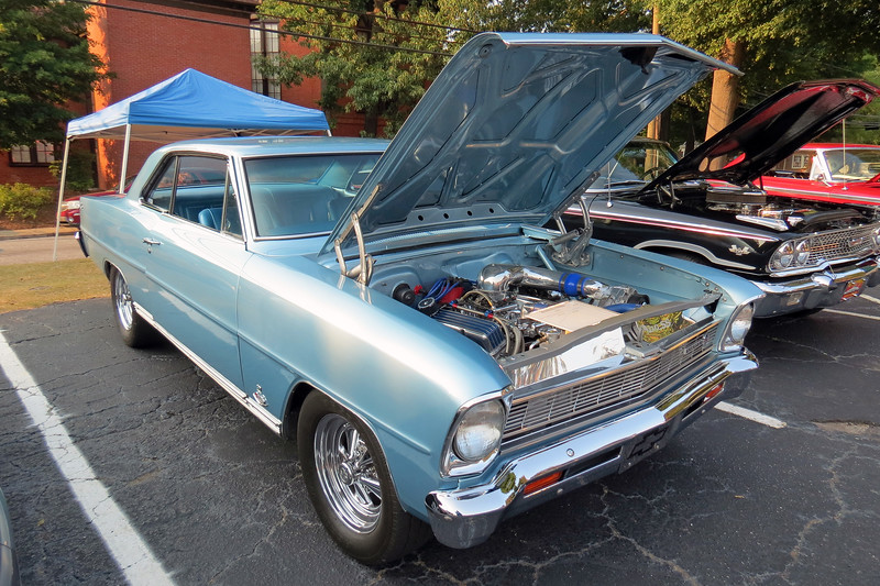 1966 Chevrolet Nova SS.  <br /> <br /> This is the same supercharged Nova I saw at the Crystal Hills show a week ago.  Power comes from a supercharged 383 CID V8 that makes 500 hp at the wheels.