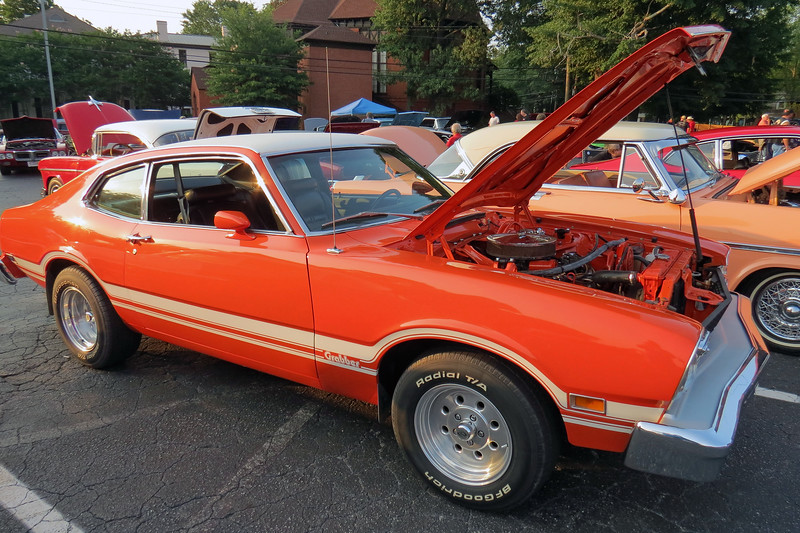 1974-75 Ford Maverick Grabber.<br /> <br /> The Grabber was an optional trim package for the Ford Maverick available from 1971 - 1975.   Ford's 302 CID V8 was available as an option.