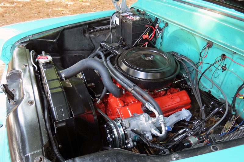 This 1959 model would be the last year for the Chevrolet Task Force series of trucks, (the line would be replaced with the familiar C/K Series for 1960).  I  don't know what engine has been installed.  But it looks like a later model small block V8.