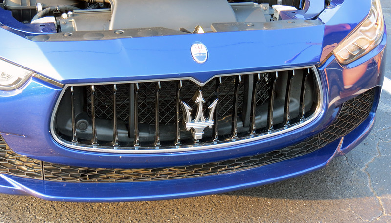 Behind the famous Maserati Trident is a 3.0L twin turbo V6 that makes 345 hp