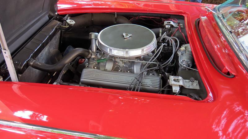 This car has the base 283 CID V8 that makes 230 hp.