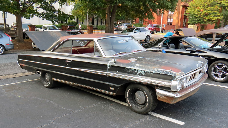 1964 Ford Galaxie 500.<br /> <br /> This is the last of four Galaxie 500s at the show today.  This 1964 model has a 390 CID V8.