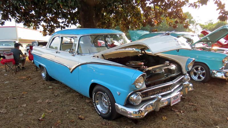 1955 Ford Fairlane two-door sedan.