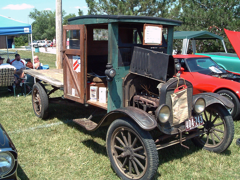 An unrestored 1920s Ford truck.  This would be the modern F-Series' grandpa.