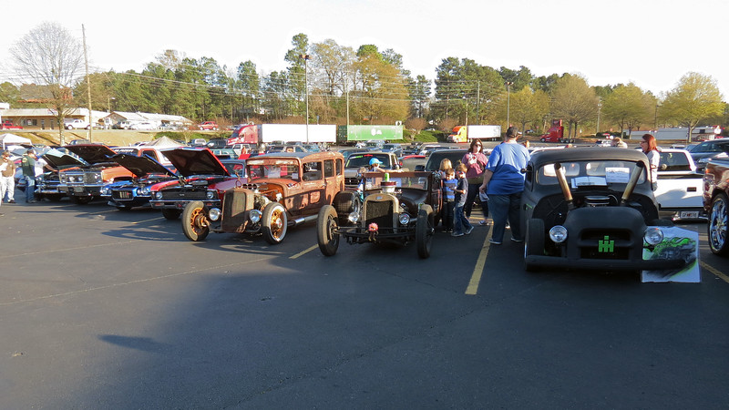 Several Rat Rods in attendance this evening.