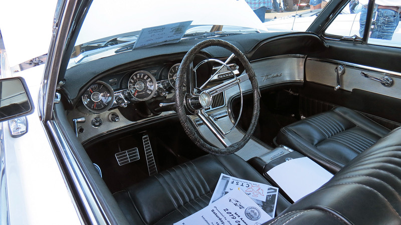 Ford always did a great job with the Thunderbird interior design.  This car is equipped with the Swing-Away steering column.  With shift lever in Park, the whole steering column slides inboard to allow for easier ingress and egress.
