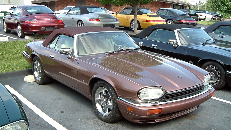 1995 Jaguar XJS, 55K, $19,900.<br /> <br /> The XJS could be ordered with a number of custom paint colors, one of which was Rose Bronze, code SDL available for 1995 only.  I don't know how many were produced.  But an Ebay listing from a few years ago suggested a total of 40 cars were painted this color.  I've yet to see another one in this wonderful color.