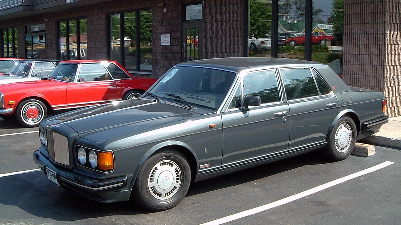 I have no details recorded about this beautiful Bentley other than it is a Bentley that appears to be a mid-80s vintage.  I'd love to have one.  But buying parts would probably cause a heart attack.