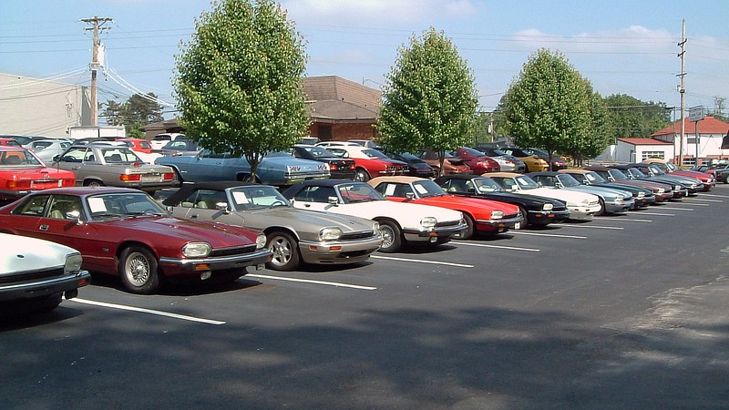 Buyers looking for a Jaguar XJS had an entire row from which to choose !