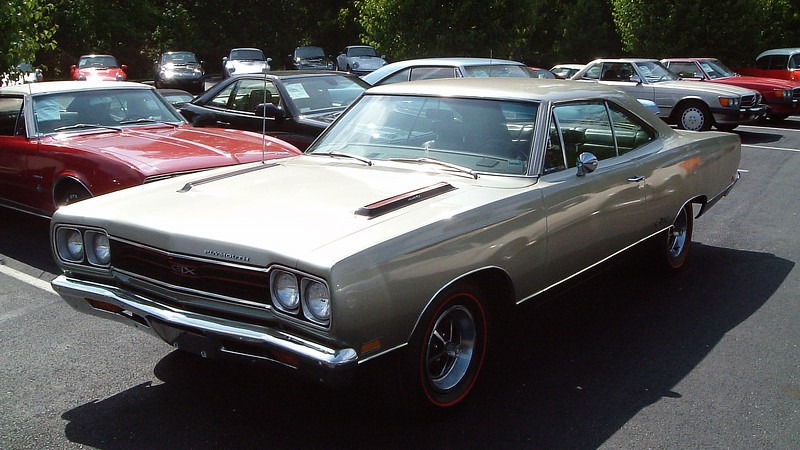 """1969 Plymouth GTX 440, $28,900.<br /> <br /> """"The Gentleman's Muscle Car"""" from Plymouth cost more than the entry level Road Runner.  For that premium, buyers were rewarded with Chrysler's 440 CID V8 and automatic transmission as standard equipment."""