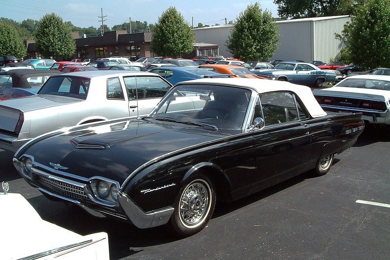 1962 Ford Thunderbird Convertible.<br /> <br /> I don't have the price recorded for this beautiful T-Bird convertible.  But this car featured the tonneau cover for the rear seats which made the car look like a large two-seater.  So it probably wasn't cheap.
