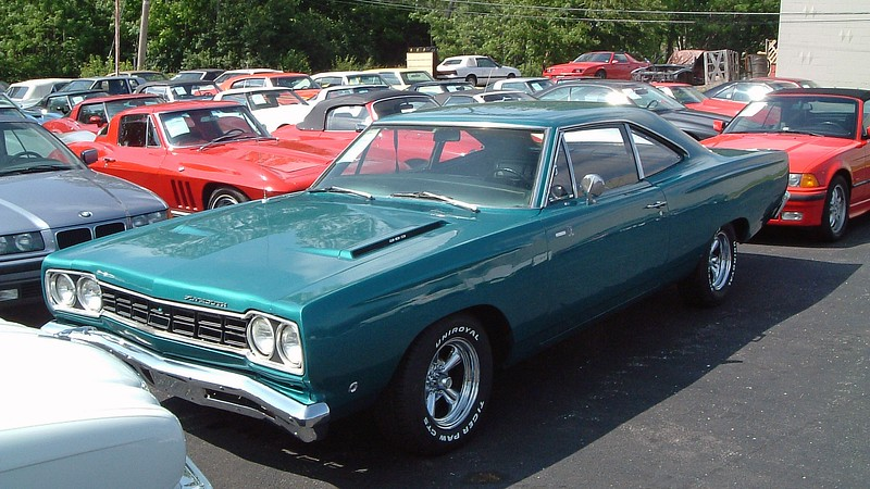 """1968 Plymouth Road Runner 383, $14,900.<br /> <br /> This was the first year for the Road Runner, an economical alternative to Plymouth's """"Gentleman's Muscle Car"""" GTX.  The Road Runner outsold the GTX in 1968 by more than two to one thanks to its lower MSRP."""