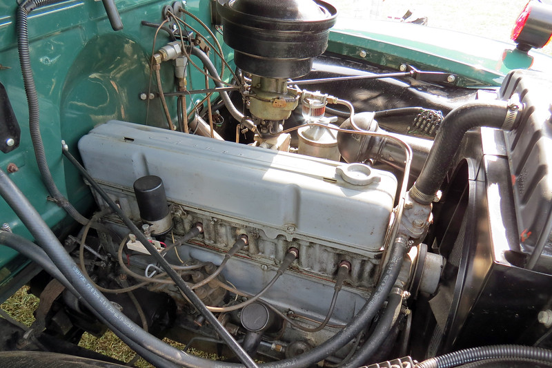 The replacement engine is a 235 CID inline 6-cylinder from 1954.
