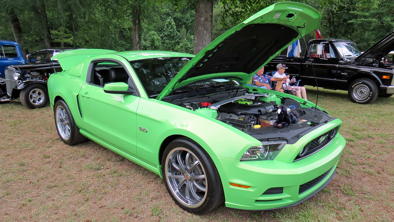 New Mustang GT in an unusual color.
