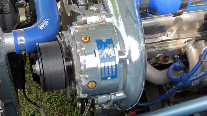 The 500 rear wheel horsepower it produces is due in part to the V-3 Vortech supercharger.