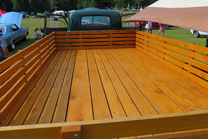 The original owner ordered this truck without a bed and made one by hand from lumber that he cut on the farm.  The current owner did the same thing during the restoration, making the bed from white oak lumber that was also cut on the family's farm.