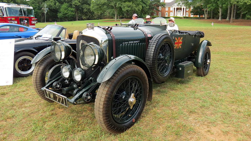 "The Bentley 4 1/2 Litre was built and sold as a rolling chassis that would have a custom body fitted by the new owner after purchase.  I'm not sure what this body is known as other than the ""Le Mans style"" body."