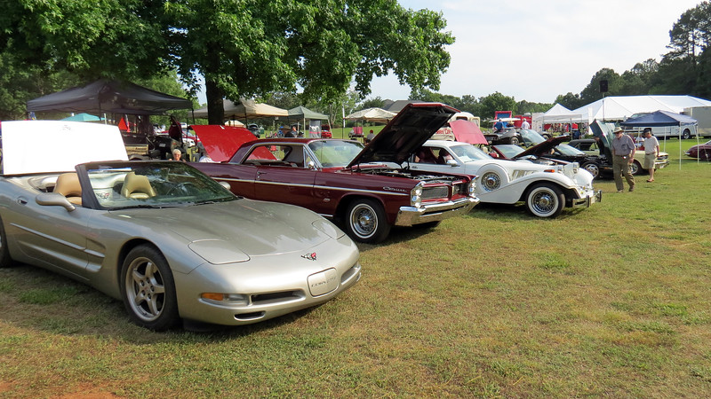 This area of the show featured cars from the Athens Region of the AACA.