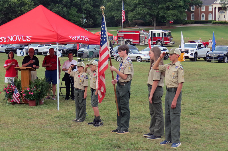 Presentation of the Colors by local Scouts.