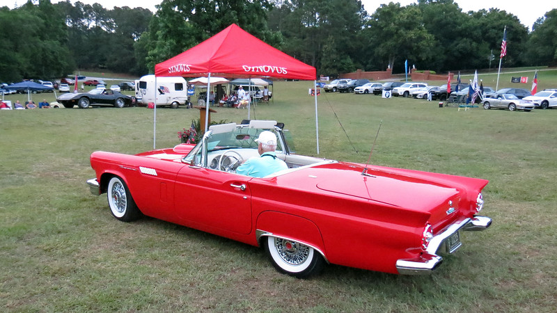 The first Best of Show was awarded to this beautifully restored 1957 Ford Thunderbird.