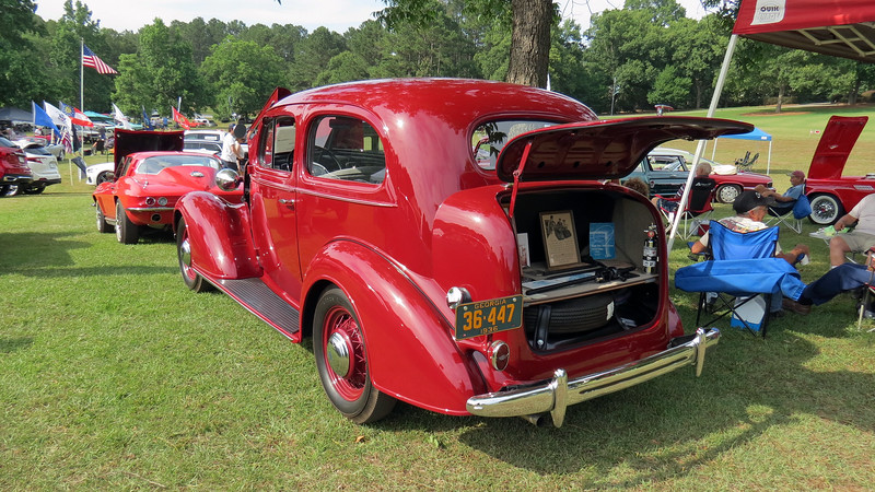I've seen this beautifully restored car at many local shows over the years.
